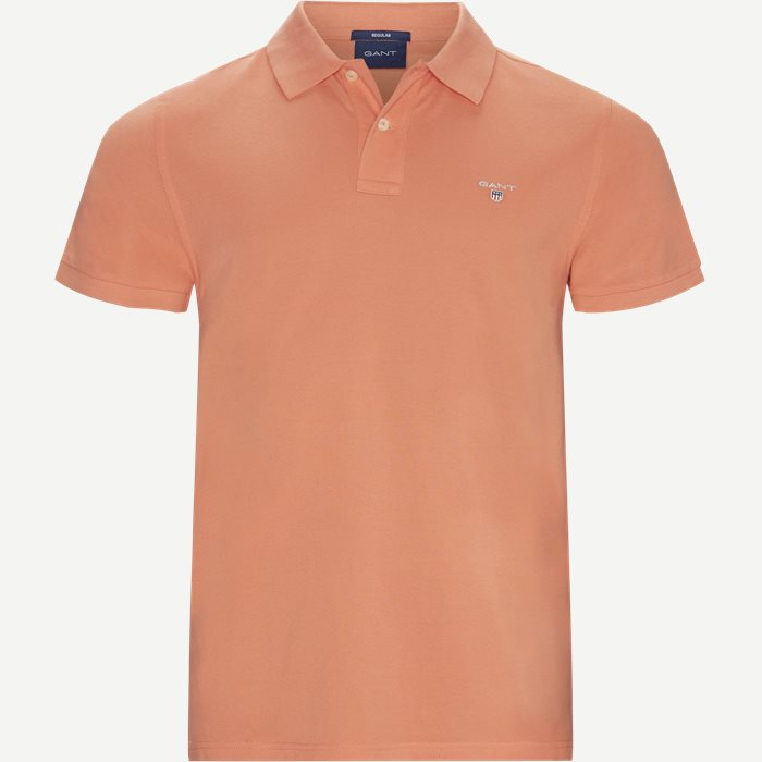 The original Pique SS Rugger Polo T-shirt - T-shirts - Regular - Rød
