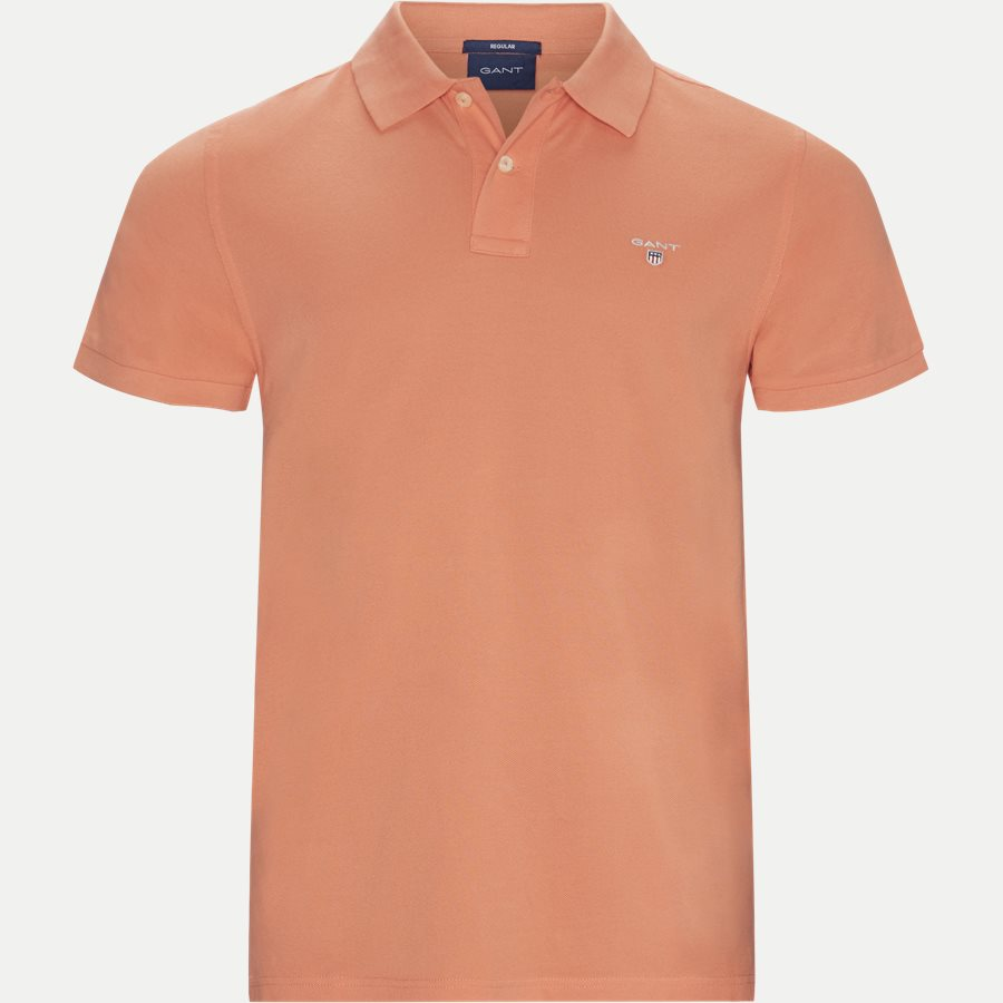 2201 S19 - The original Pique SS Rugger Polo T-shirt - T-shirts - Regular - CORAL - 1
