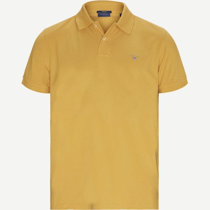 The original Pique SS Rugger Polo T-shirt - T-shirts - Regular - Gul