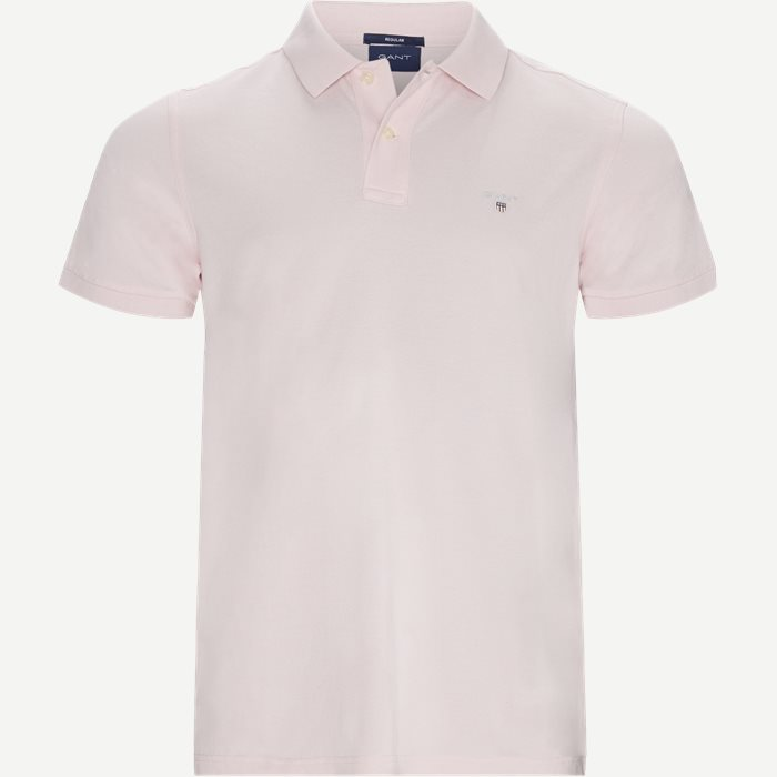 The original Pique SS Rugger Polo T-shirt - T-shirts - Regular - Pink