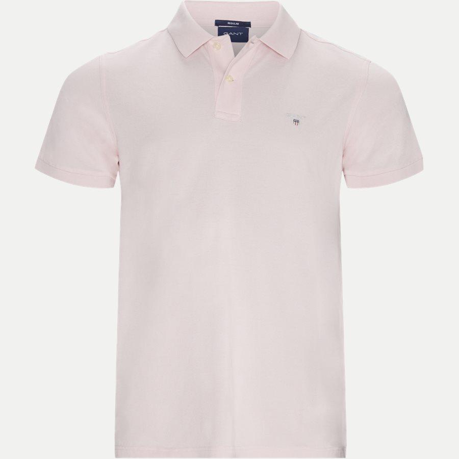 2201 S19 - The original Pique SS Rugger Polo T-shirt - T-shirts - Regular - PINK - 1