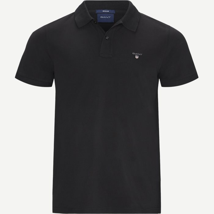 The original Pique SS Rugger Polo T-shirt - T-shirts - Regular - Sort