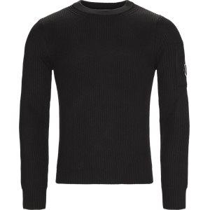 Merino Fisherman Crew Neck Sweater Regular | Merino Fisherman Crew Neck Sweater | Sort