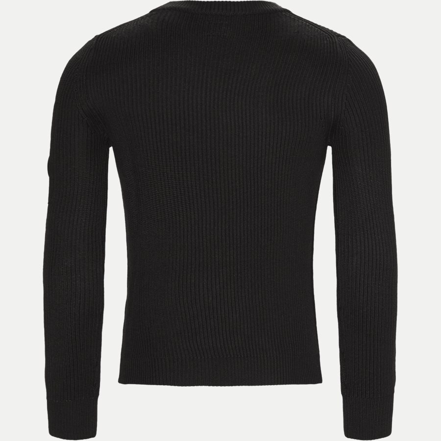 KN122A 005292A - Merino Fisherman Crew Neck Sweater - Strik - Regular - SORT - 2