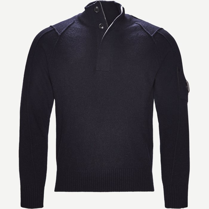 Turtle Neck Knitwear - Strik - Regular - Blå