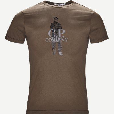 Crew Neck Logo T-shirt Regular | Crew Neck Logo T-shirt | Army