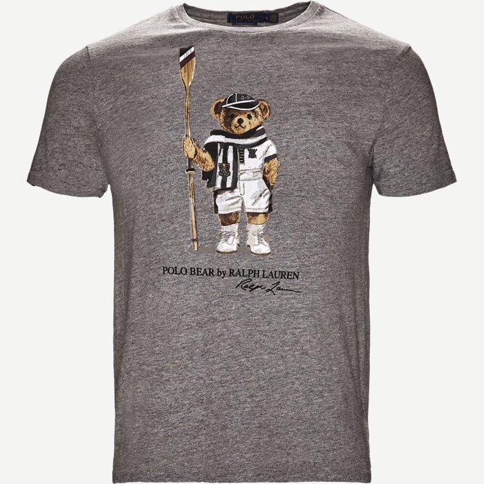 Boathouse Bear Tee - T-shirts - Regular slim fit - Grå