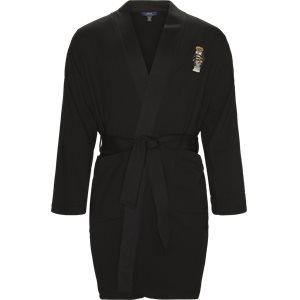 Fleece Kimono Robe Regular | Fleece Kimono Robe | Sort