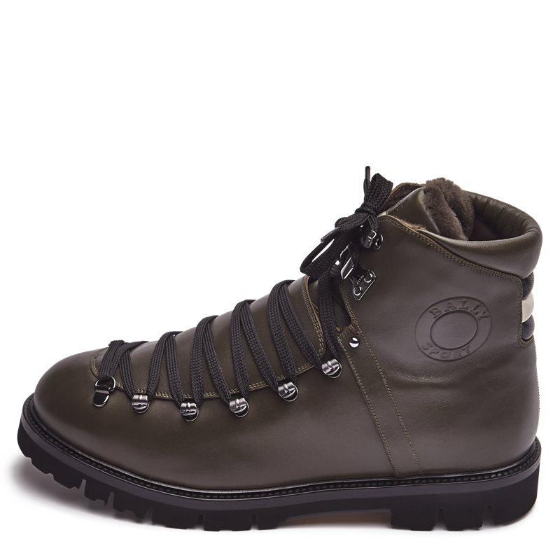 Bally chack-fur sko olive fra bally på axel.dk