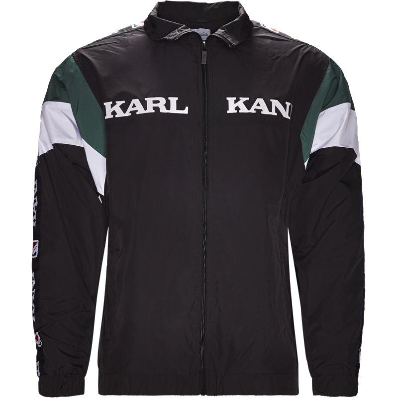 karl kani Karl kani kk retro trackjacket sort på quint.dk