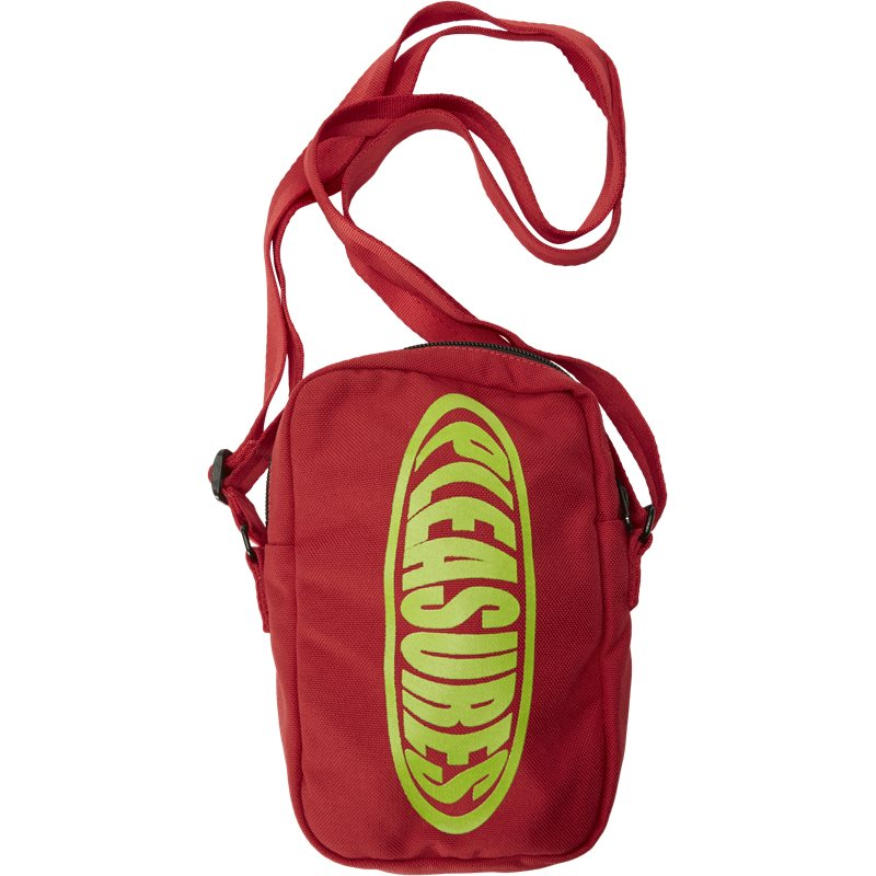 Billede af Pleasures Now Bubble Logo Side Bag Rød