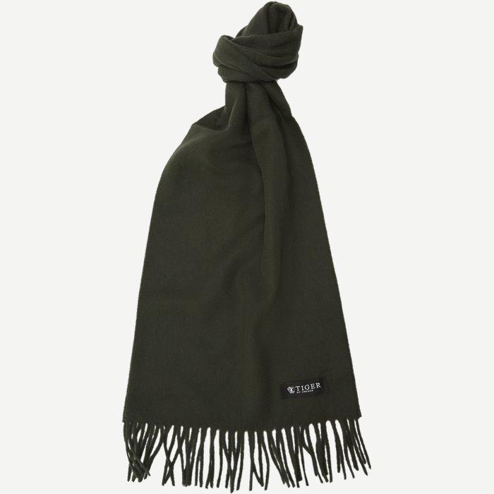 Sullan Wool Cashmere Scarf - Tørklæder - Grøn