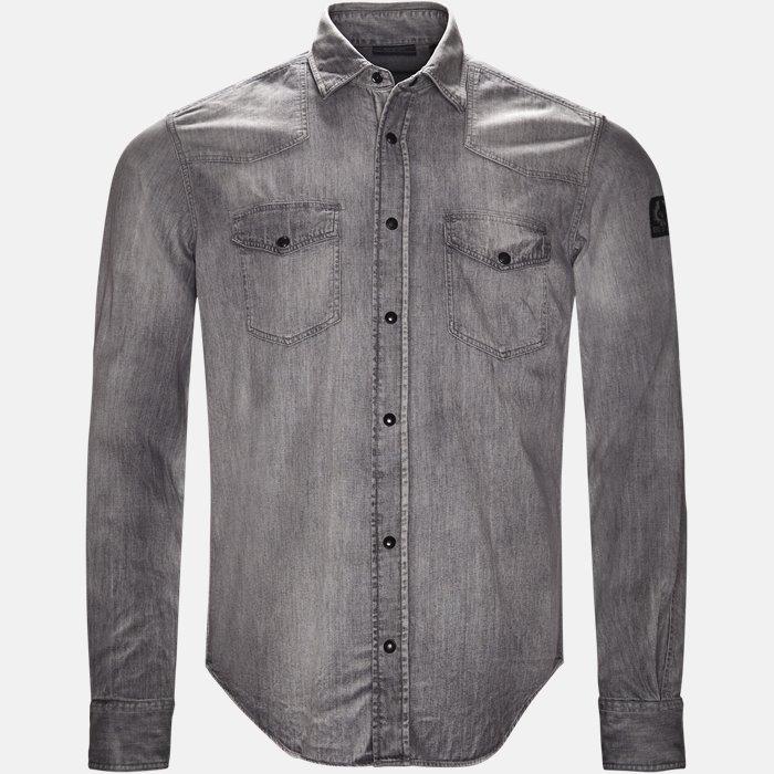 skjorte - Skjorter - Regular fit - Grå