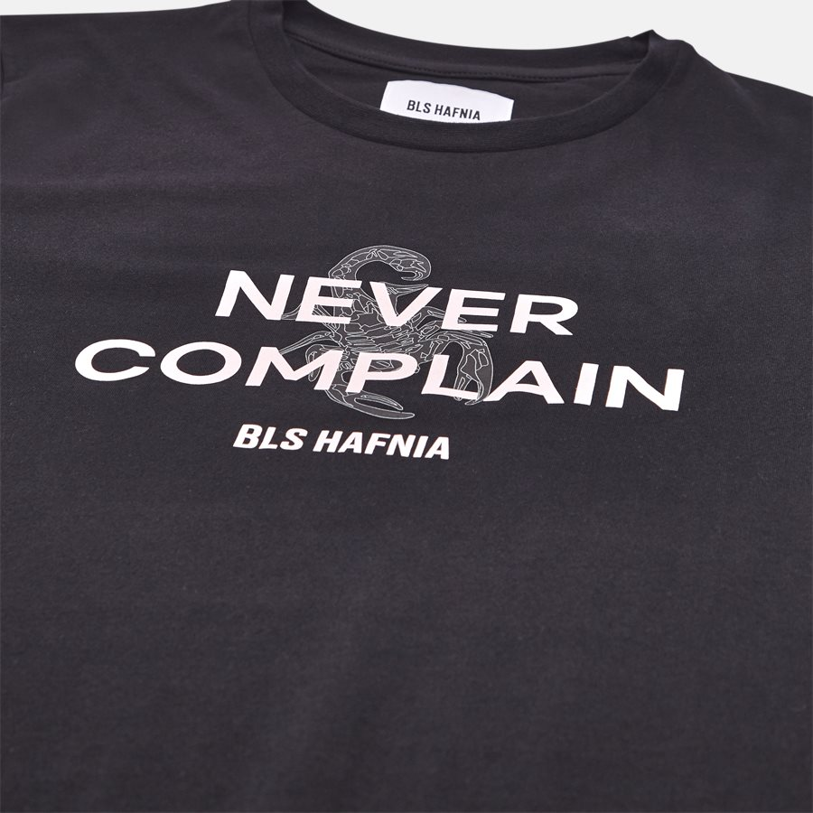 NEVER COMPLAIN T-SHIRT - T-shirt - T-shirts - Regular fit - BLACK - 3