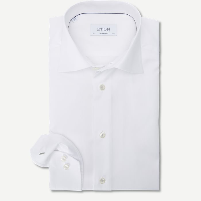 3153 Signature Twill Skjorte - Skjorter - Hvid