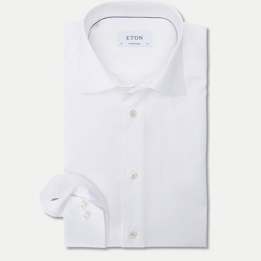 3153. - 3153 Signature Twill Skjorte - Skjorter - HVID - 1