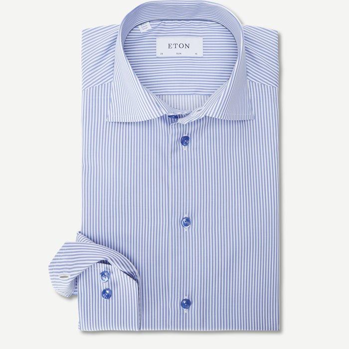 7640 Fine Twill Skjorte - Skjorter - Blå