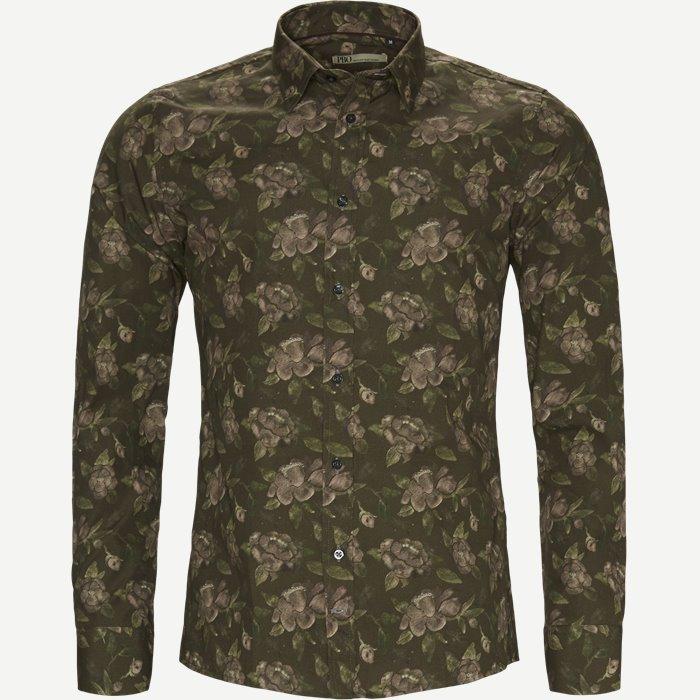 Tight Skjorte - Skjorter - Slim - Army
