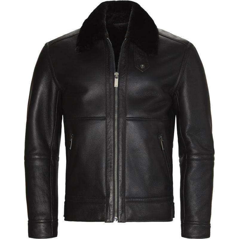 calvin klein – Calvin klein k10k102625 shearling aviator jakker black på axel.dk