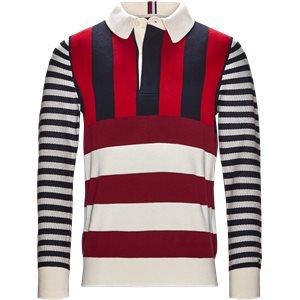 Stripe Knitted Relax Strik Regular | Stripe Knitted Relax Strik | Blå