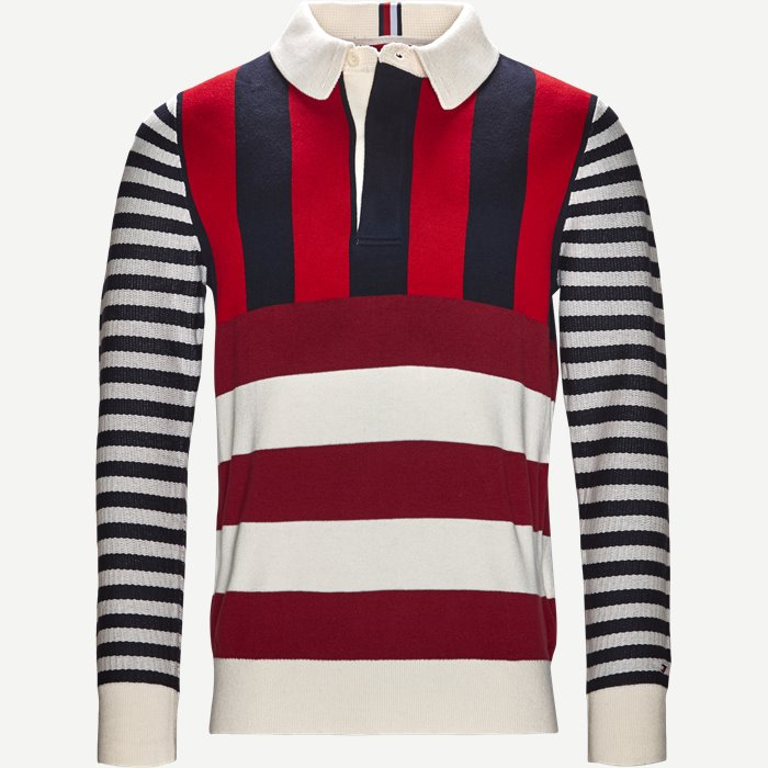 Stripe Knitted Relax Strik - Strik - Regular - Blå