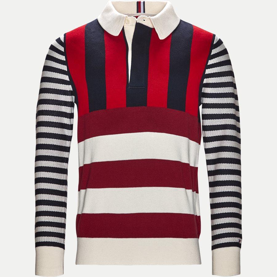 STRIPE KNITTED RELAX - Stripe Knitted Relax Strik - Strik - Regular - NAVY - 1