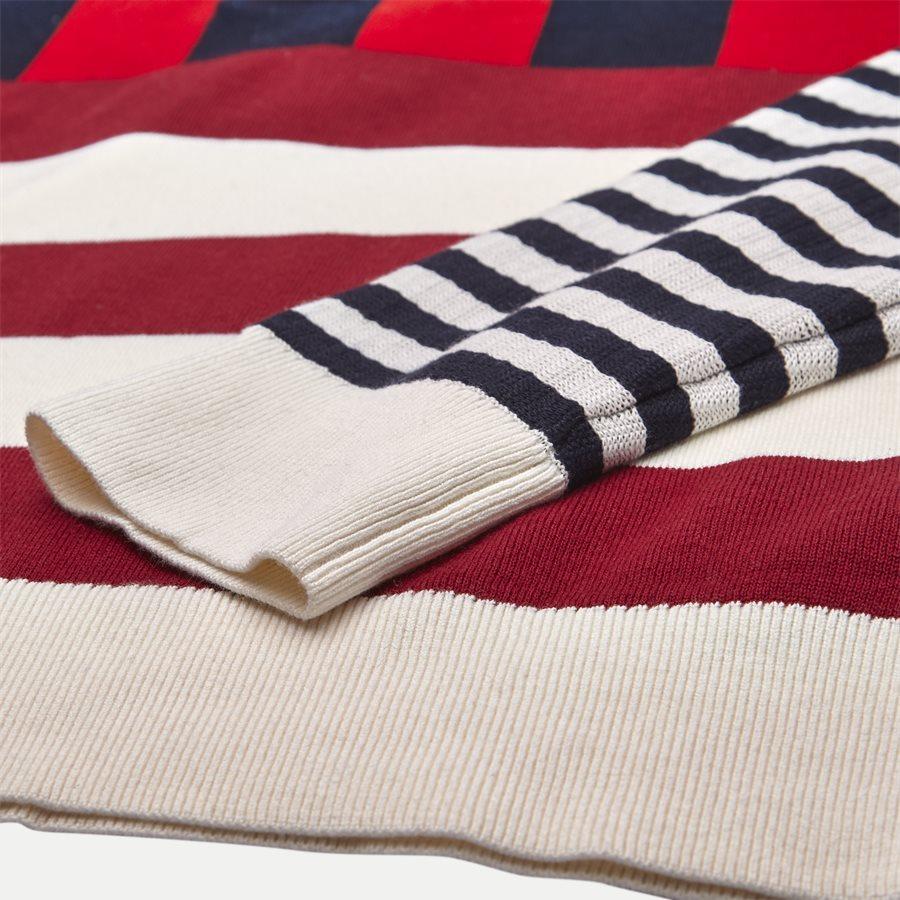 STRIPE KNITTED RELAX - Stripe Knitted Relax Strik - Strik - Regular - NAVY - 4