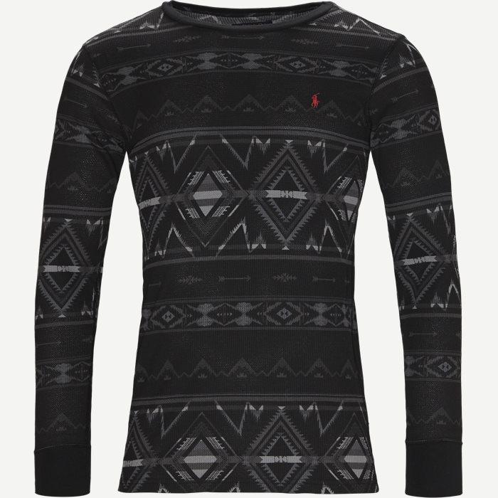 Waffel Crew Neck Long Sleeve - T-shirts - Regular - Grå