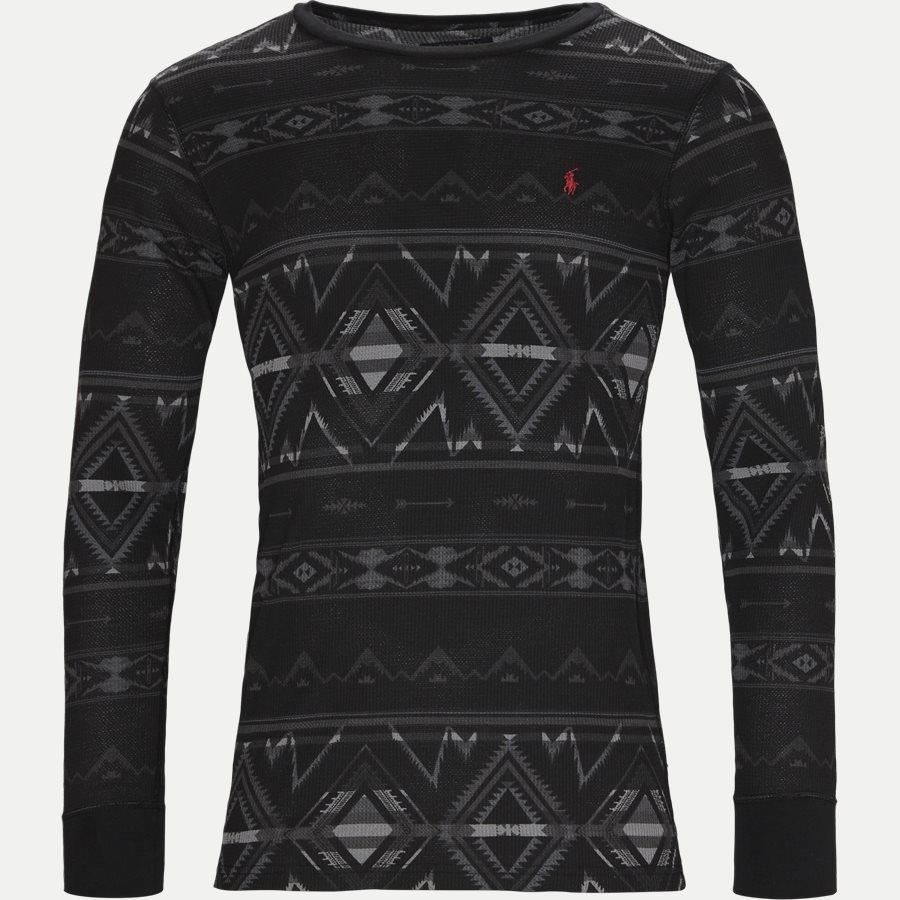 714705228. - Waffel Crew Neck Long Sleeve - T-shirts - Regular - CHARCOAL - 1