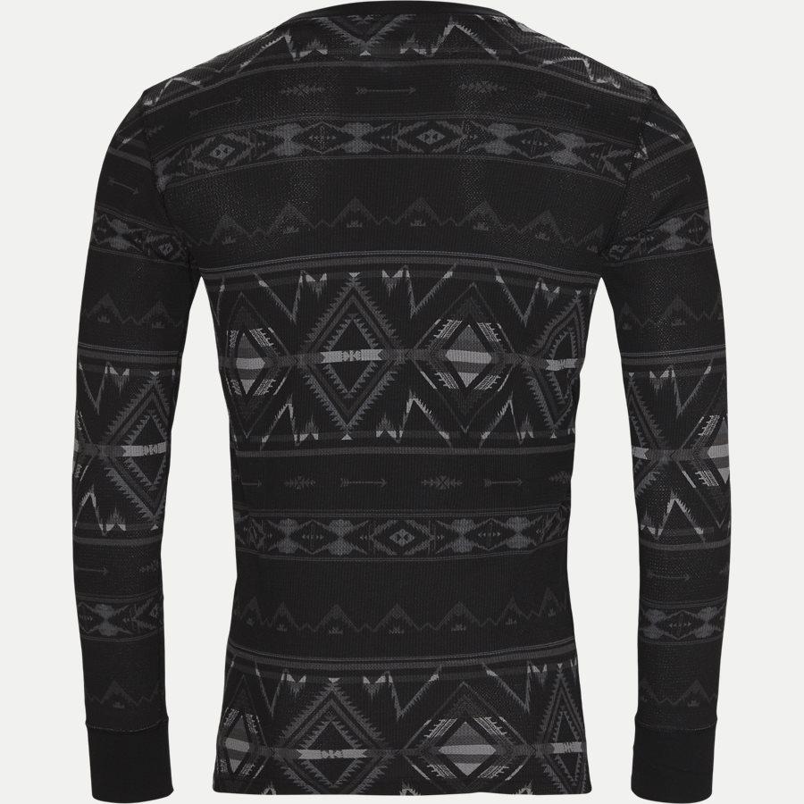 714705228. - Waffel Crew Neck Long Sleeve - T-shirts - Regular - CHARCOAL - 2