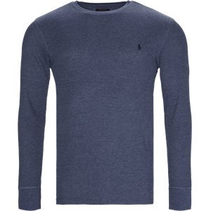 Waffel Crew Neck Long Sleeve Regular | Waffel Crew Neck Long Sleeve | Denim