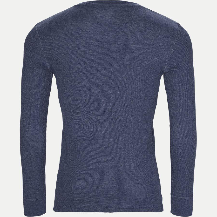 714705228. - Waffel Crew Neck Long Sleeve - T-shirts - Regular - DENIM - 2