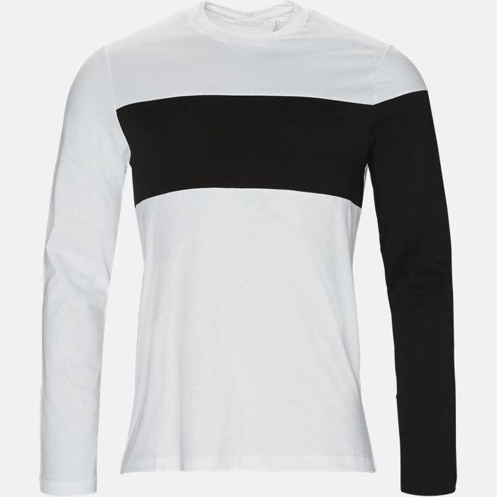 T-shirt - Langærmede T-shirts - Regular fit - Hvid