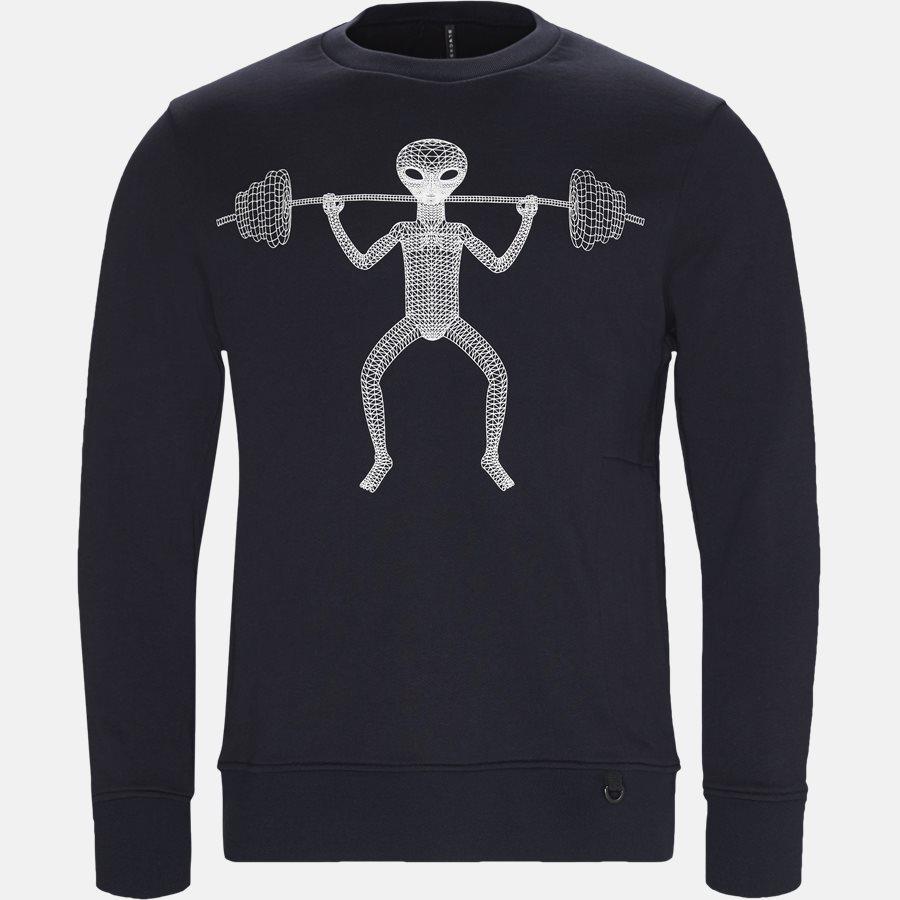 PXJS773 - 1CR - Sweatshirts - Regular fit - NAVY/HVID - 1