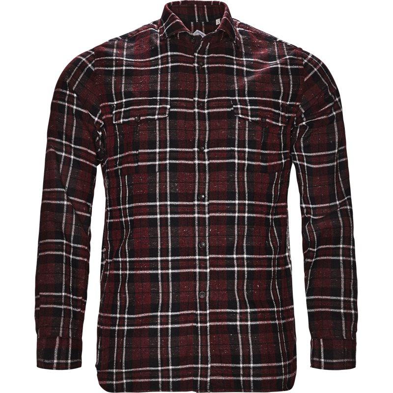 Xacus tailor 31363 424ml skjorter bordeaux/sort fra xacus på axel.dk