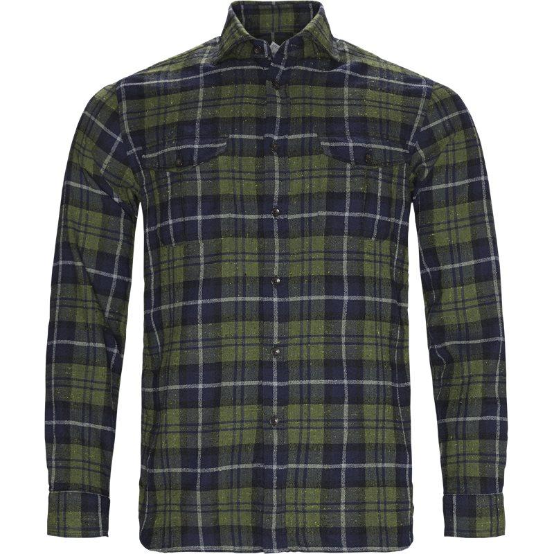 Billede af Xacus Tailor 31363 424ML Skjorter Navy/grøn