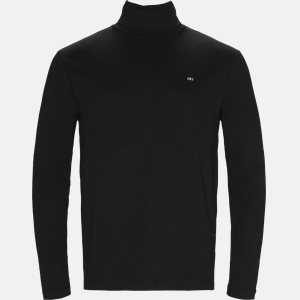 Regular fit | Long-sleeved T-shirts | Black