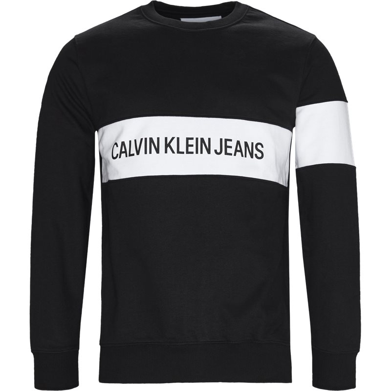 calvin klein jeans Calvin klein jeans regular fit j30j309510 institutional  sweatshirts black fra axel.dk