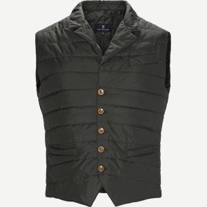 Padded Waistcoat Regular | Padded Waistcoat | Grøn