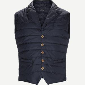 Padded Waistcoat Regular | Padded Waistcoat | Blå