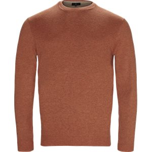 Crew Neck Alcantara Knit Regular | Crew Neck Alcantara Knit | Orange
