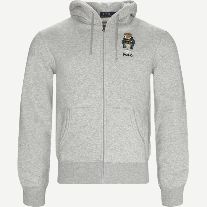 Bear Full Zip Hoodie Sweatshirt - Sweatshirts - Regular - Grå