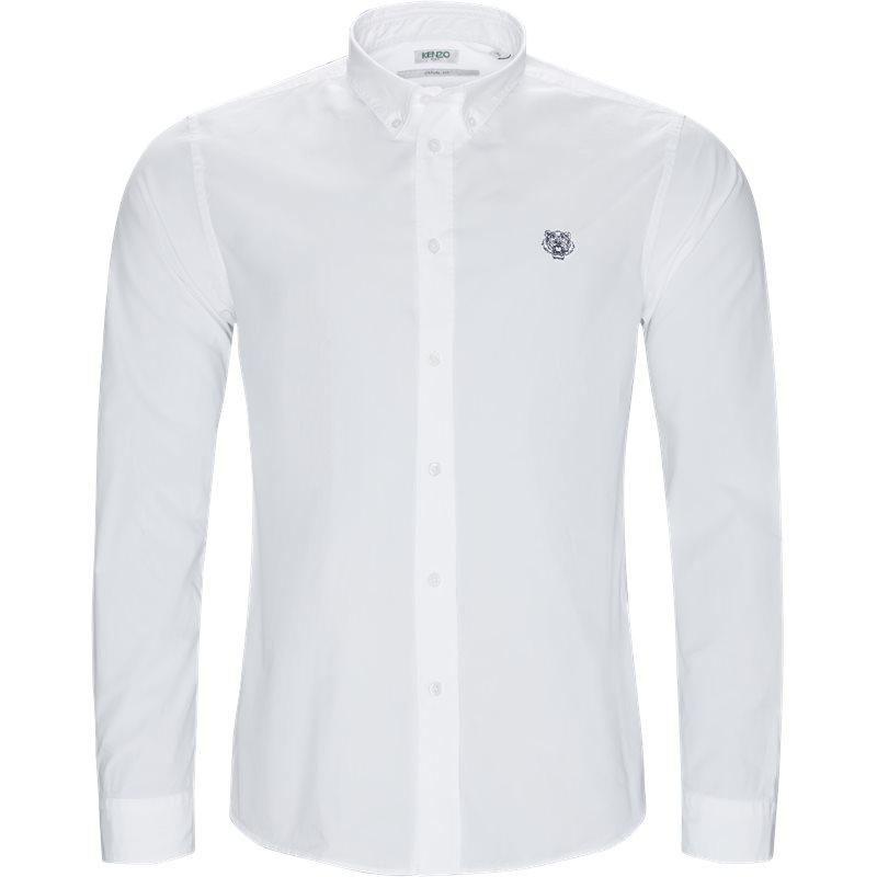 Kenzo casual fit f955ch400la skjorter hvid fra kenzo fra axel.dk