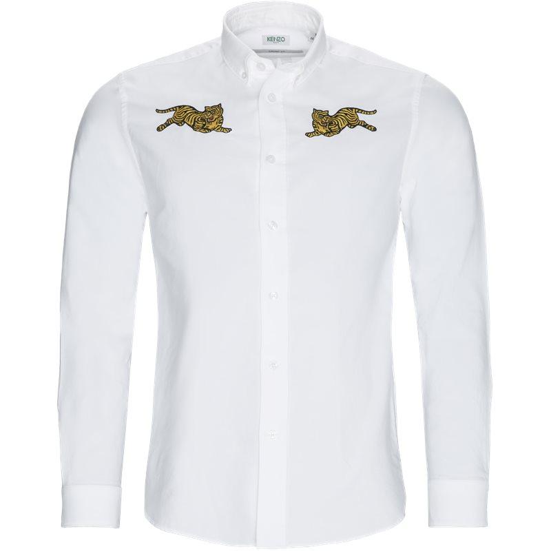 kenzo Kenzo regular slim fit f955ch4021ld skjorter hvid fra axel.dk