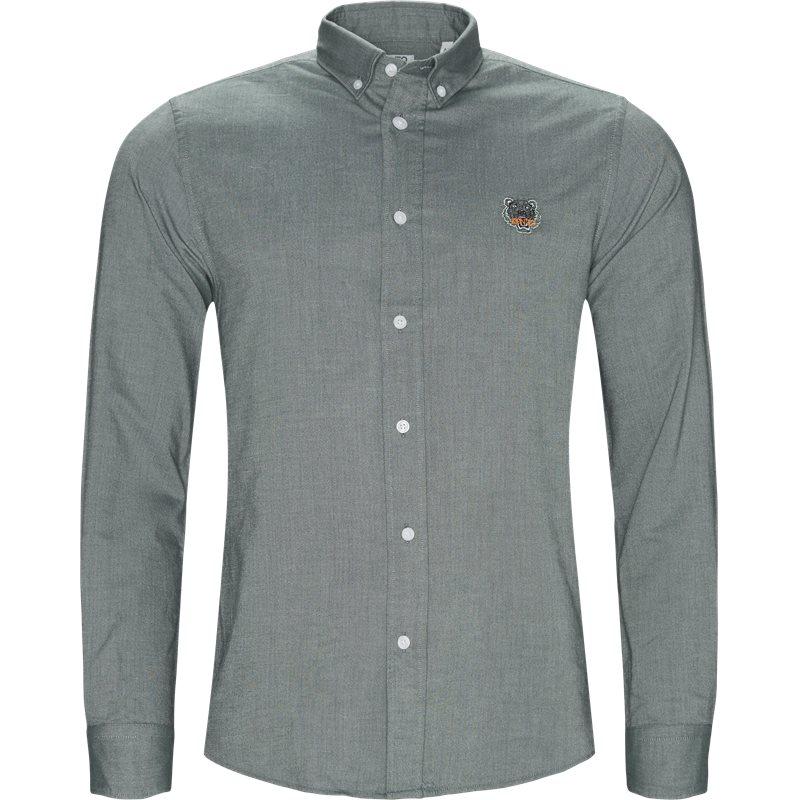 kenzo – Kenzo casual fit f955ch4001ld skjorter grøn på axel.dk