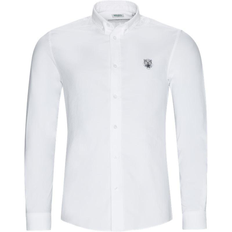 Kenzo casual fit f955ch4001ld skjorter hvid fra kenzo på axel.dk