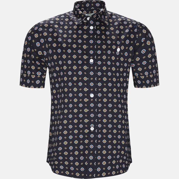 Short-sleeved shirts - Slim - Blue
