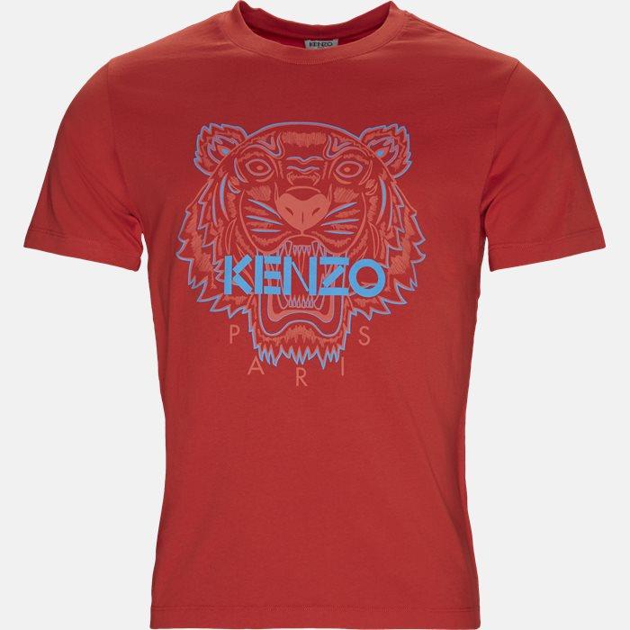 T-shirt - T-shirts - Slim - Rød