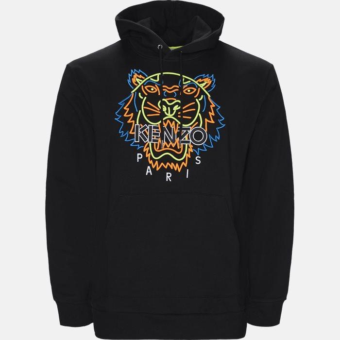 Sweatshirt  - Sweatshirts - Regular slim fit - Sort