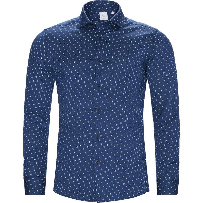 Xacus slim 41468 j748ml skjorter indigo fra xacus på axel.dk